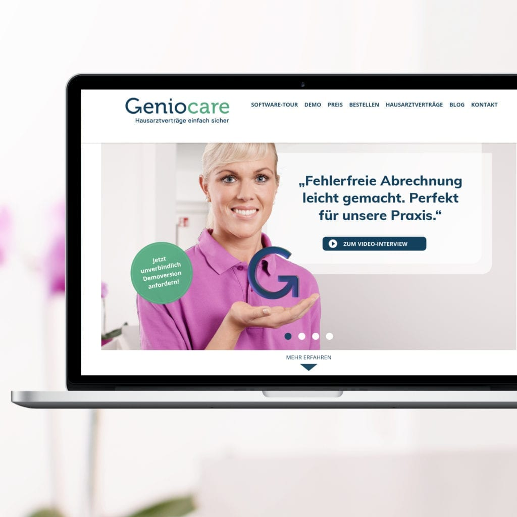 Geniocare-Software Deutscher Hausärzteverband e.V. Referenzbeitrag der Agentur RIGHT Marketing Berlin.