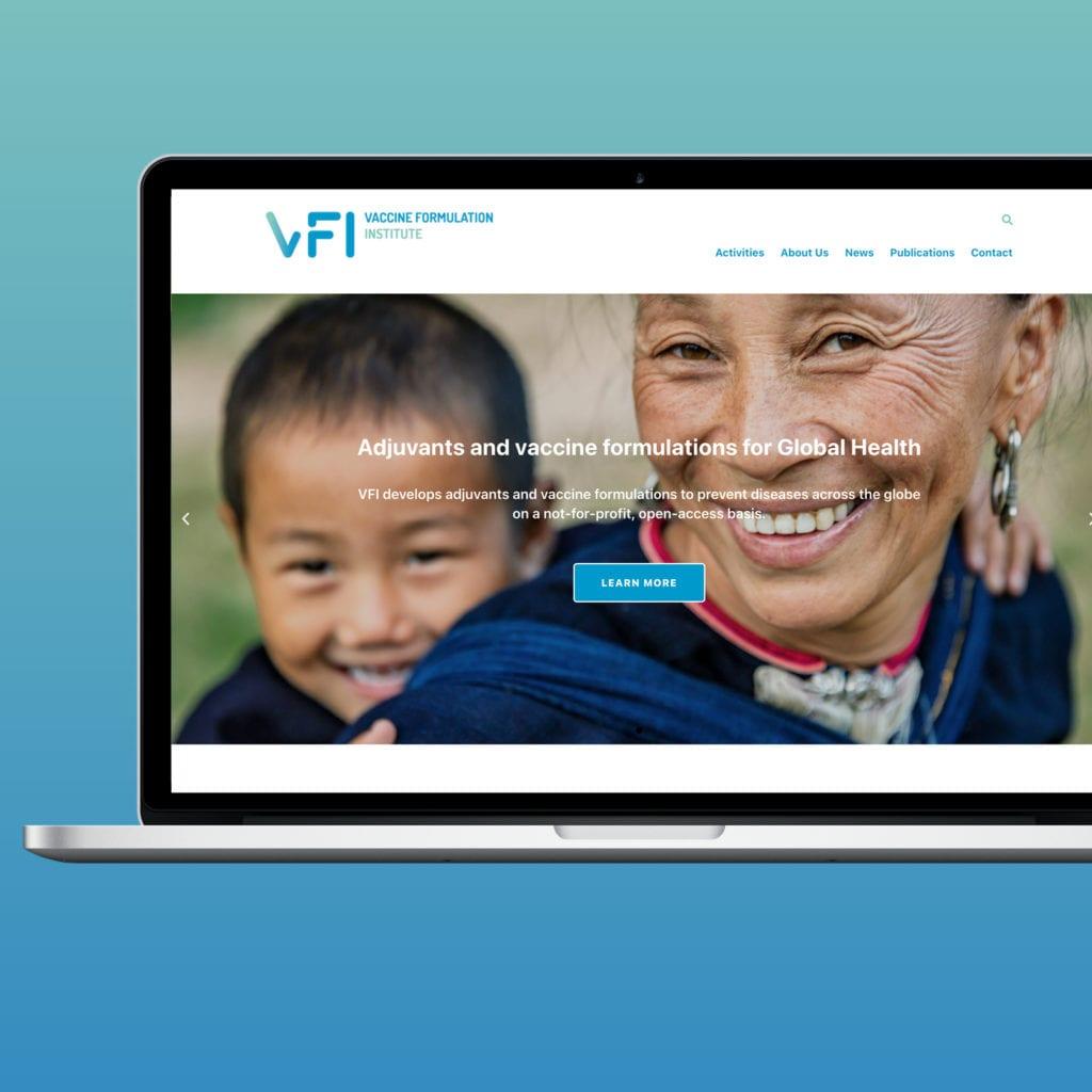 Website Vaccine Formulation Institute Ltd. Referenzbeitrag der Agentur RIGHT Marketing Berlin.